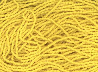Czech 13/0 charlotte seed bead hank 83110/yellow
