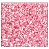 Czech 9/0 3-cuts seed bead hank 38694 (CRYSTAL/PINK LINED)
