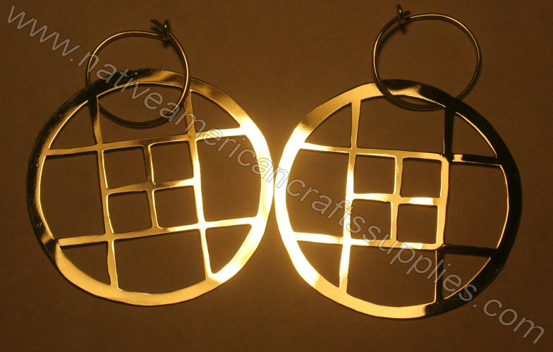 CrossHatched Earrings 2""